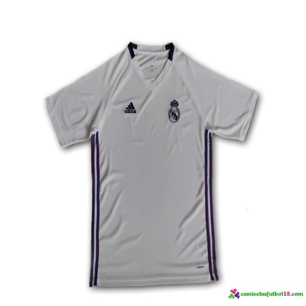 Camiseta Entrenamiento Real Madrid 2016 2017 Blanco